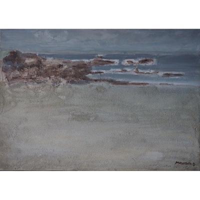 Morvan Jean -Jacques, peintre de la Marine, Pors Pouhlan.