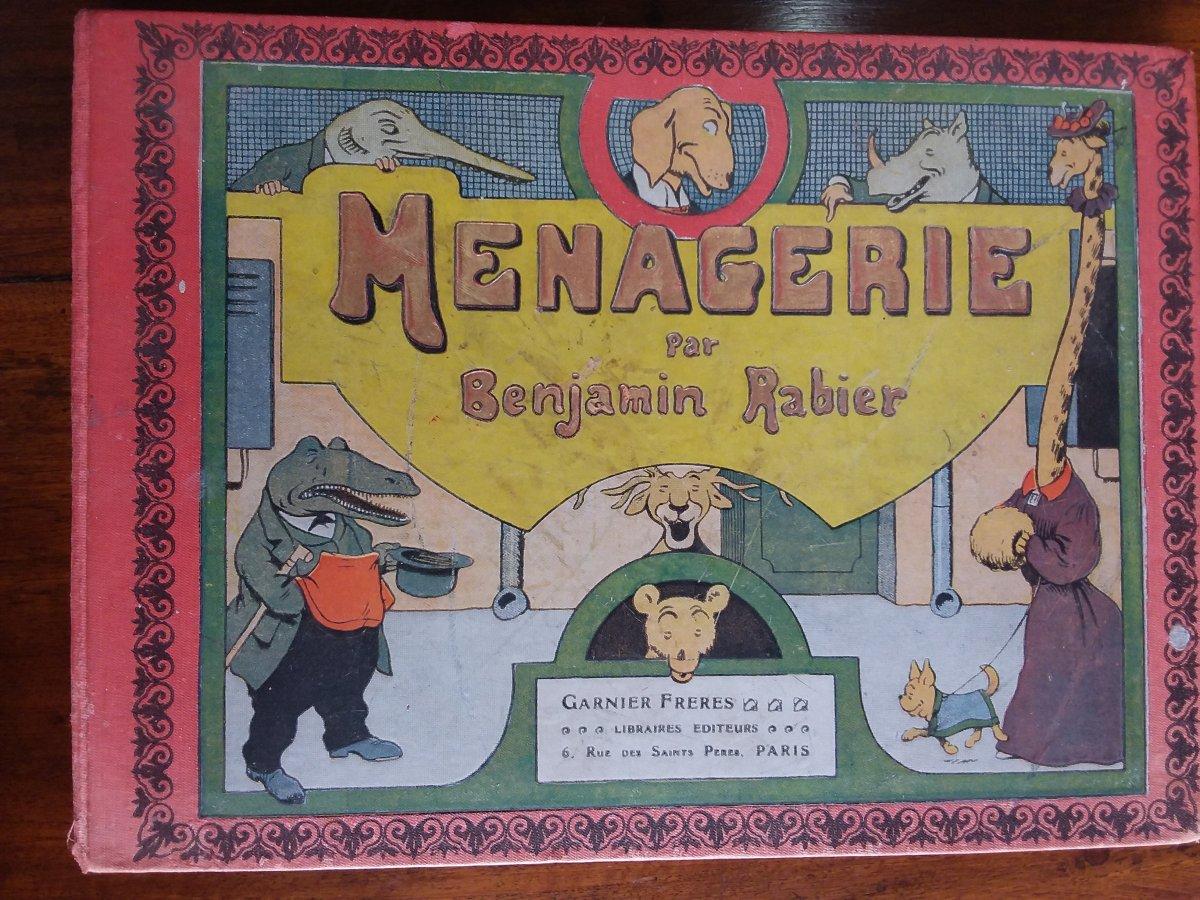 """Benjamin Rabier """"menagerie"""" Garnier Freres Éditeurs"""