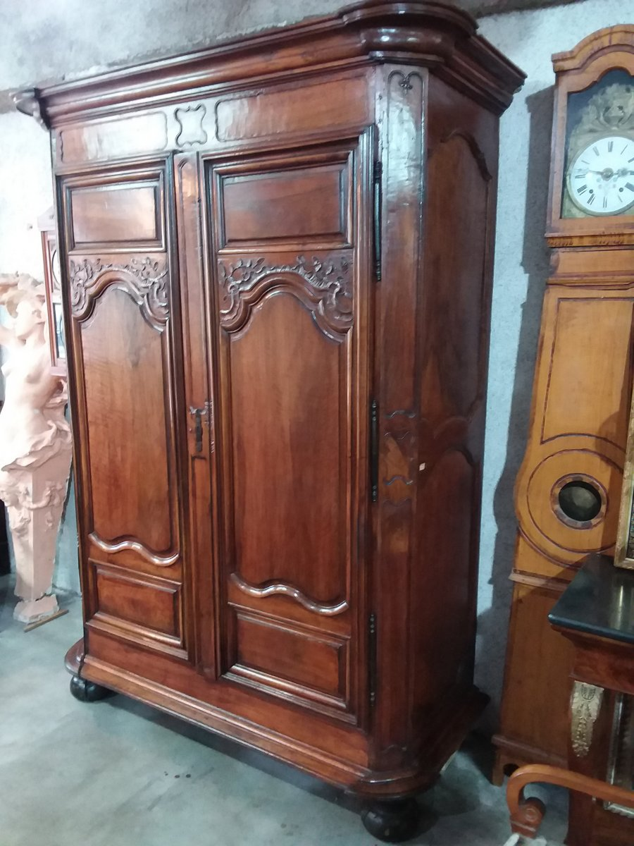 Louis XIV Massive Walnut Armoire XVIIIth