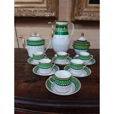 9-piece Empire / Restoration Period Coffee Service