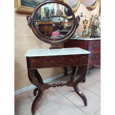 Mahogany Dressing Table And Mahogany Veneer Restoration Period 1820-1830