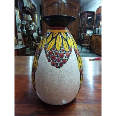 Vase Art Déco Boch Kéramis La Louvière Signé Charles Catteau