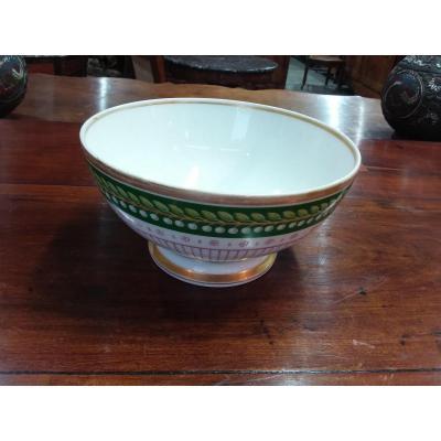 Bol En Porcelaine d'époque Restauration XIXème