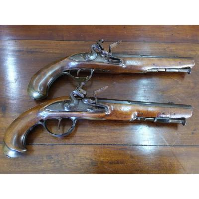 Paire De Pistolets à Silex