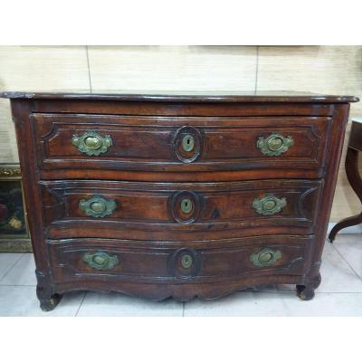 18th Century Curved Chest Of Drawers