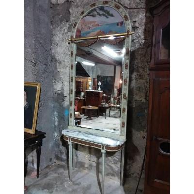 Trumeau Art Deco Sur Sa Console