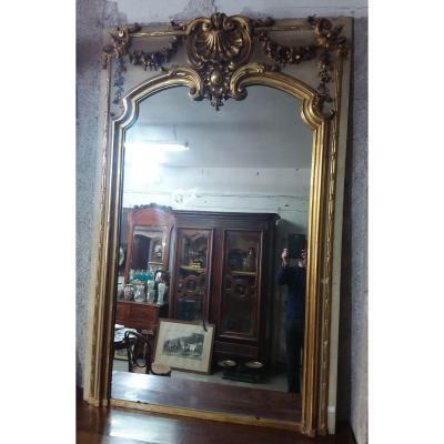 Important Miroir De Boiserie Napoléon III