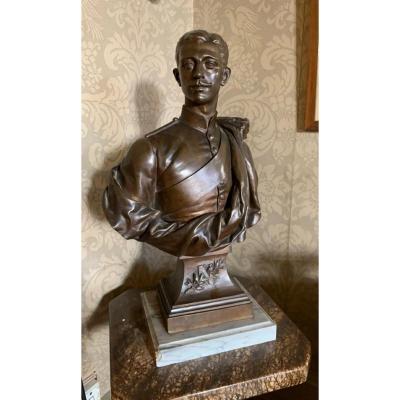 Bust Of The Imperial Prince, Napoleon Eugene Bonaparte In British Uniform