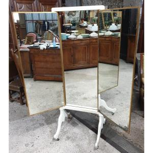 Important Miroir Triptyque Sur Pied De La Maison Brot