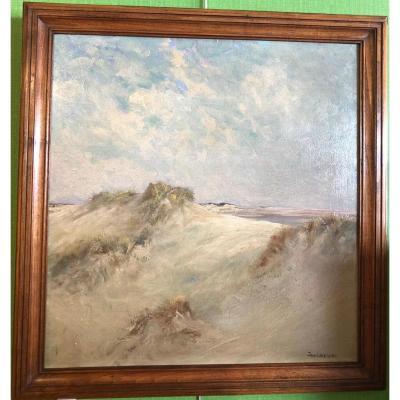 """LAVEZZARI Jan """"Les dunes en baie d'authie à Berck"""""""