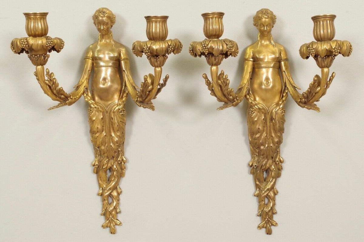 Paire d'Appliques style Louis XVI