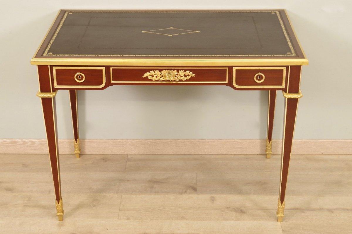 Bureau Style Louis XVI Signé Sormani