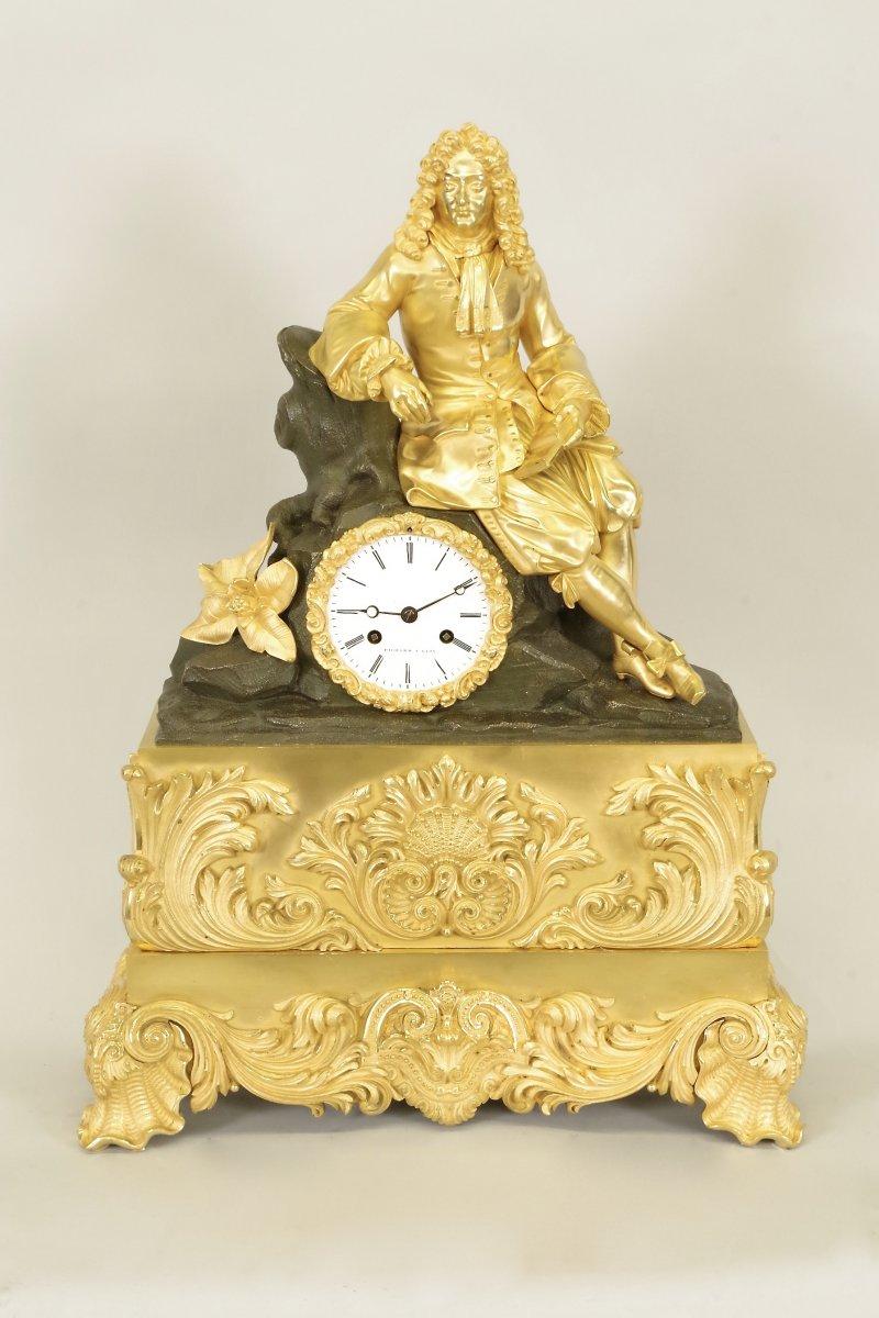 Charles X Clock Gilt Bronze