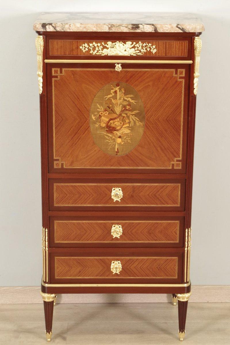 Secrétaire Style Louis XVI Signé Gouffé
