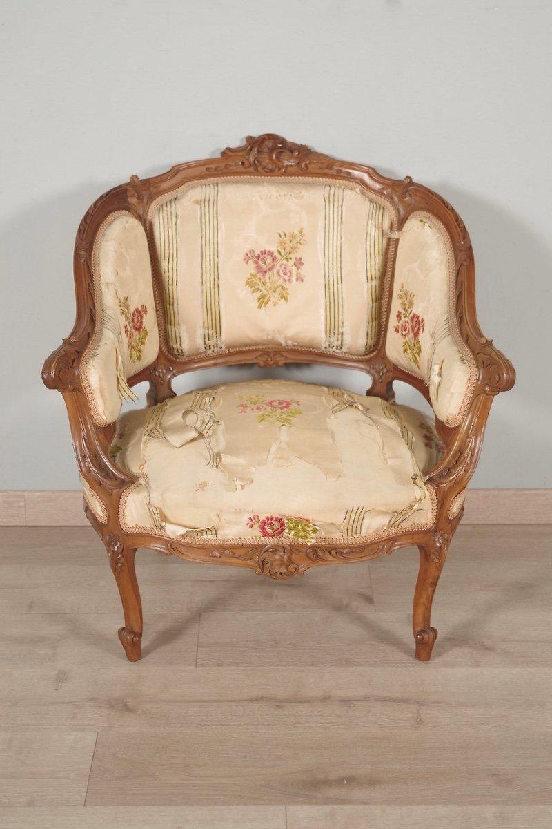 Paire De Bergères Style Louis XV-photo-4