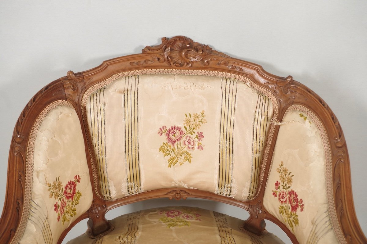 Paire De Bergères Style Louis XV-photo-3