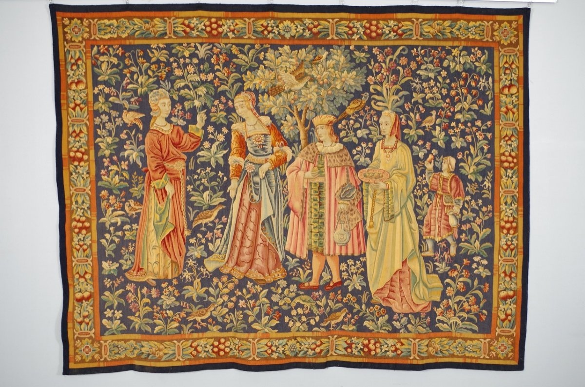 Tapisserie Aubusson Style Moyen-Age