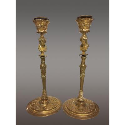 Flambeaux à l'Antique By Ferdinand Barbedienne