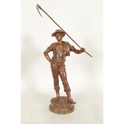 Bronze Le Soir par Marcel Debut (1865-1933)