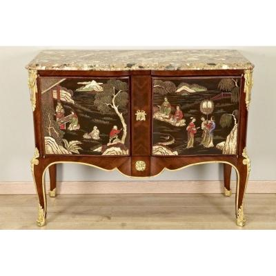 Commode Style Transition Laque de Coromandel