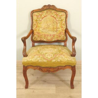 Regency Style Armchair Petit Point Tapestry
