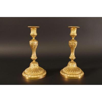 Pair Of Candlesticks Louis XVI Style
