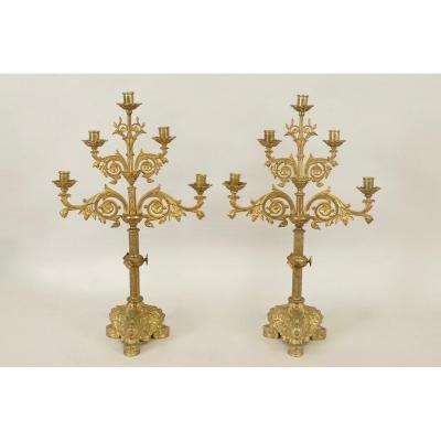 Pair Of Church Candlesticks