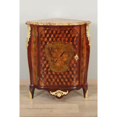 Corner Cabinet Louis XV Stamped Chevallier