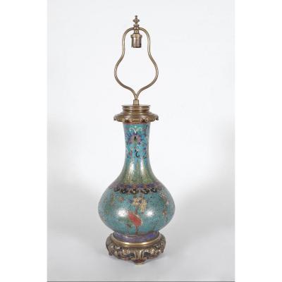 Gagneau Lamp Far East Style In Cloisonne