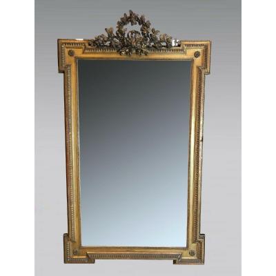 Mirror Louis XVI Style Golden Wood Napoleon III