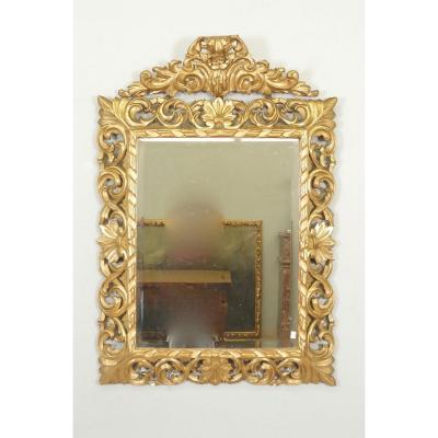 Miroir Style Louis XIV Bois Doré