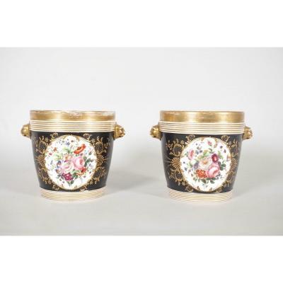 Cache-pots En Porcelaine De Paris