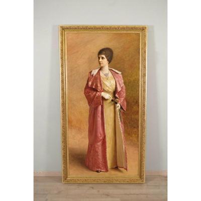 Large Painting Signed Demange