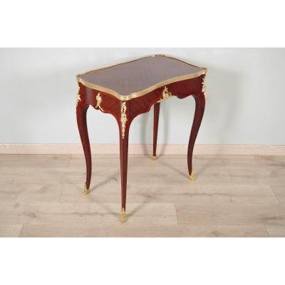 Louis XV Style Writing Table In The Taste Of Bvrb
