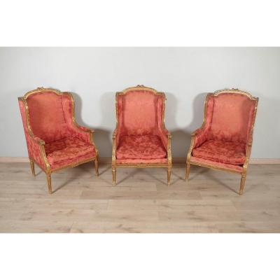 Bergères Golden Wood Louis XVI Style