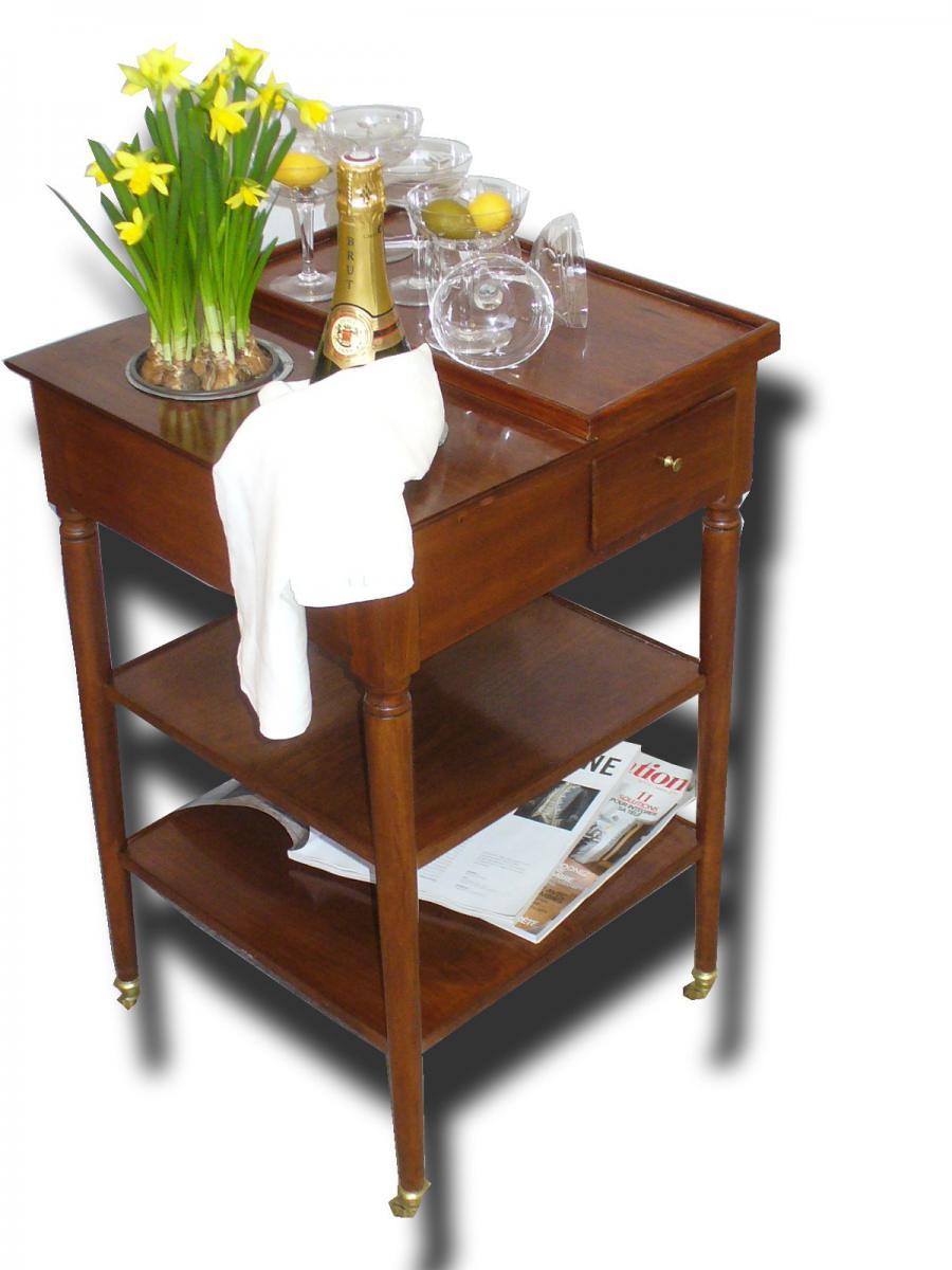 Rafraichissoir en acajou meuble d 39 poque xixe style for Antiquaire lille meuble