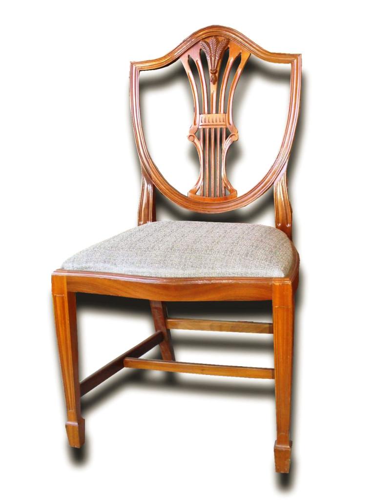 serie de six chaises en acajou modele anglais de style. Black Bedroom Furniture Sets. Home Design Ideas