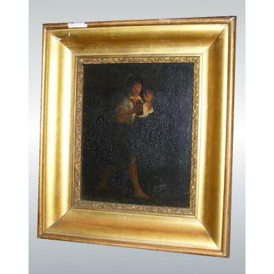 Peinture Huile Sur Toile  , Debut XIXe , Clair /obscure.