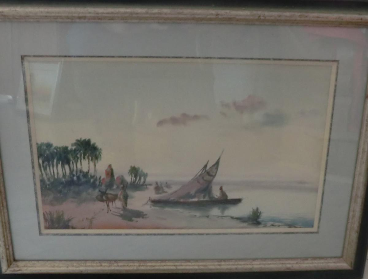 Watercolor Orientalist Signed Dole Montes