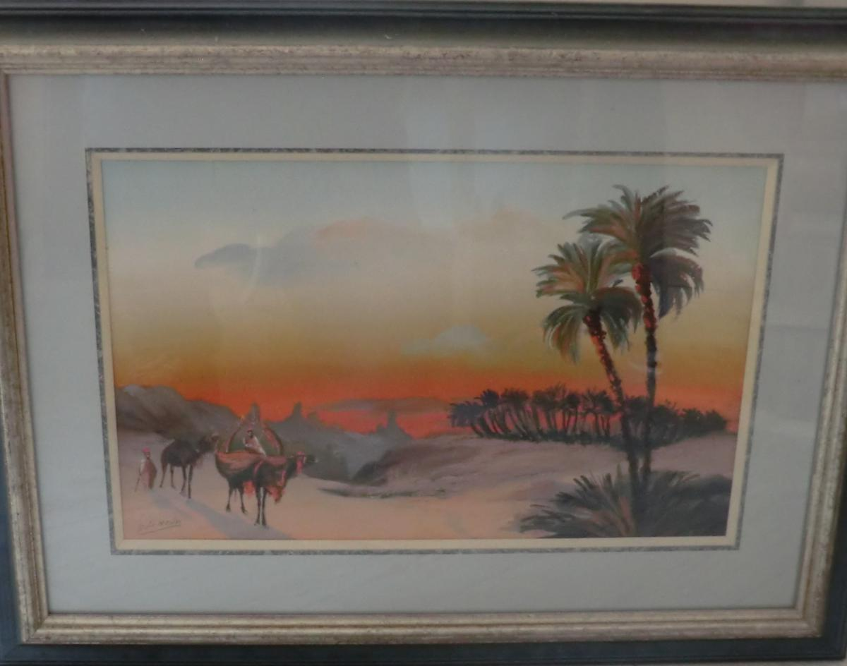 Watercolor Orientalist Signed No. 2 Dolé Montes