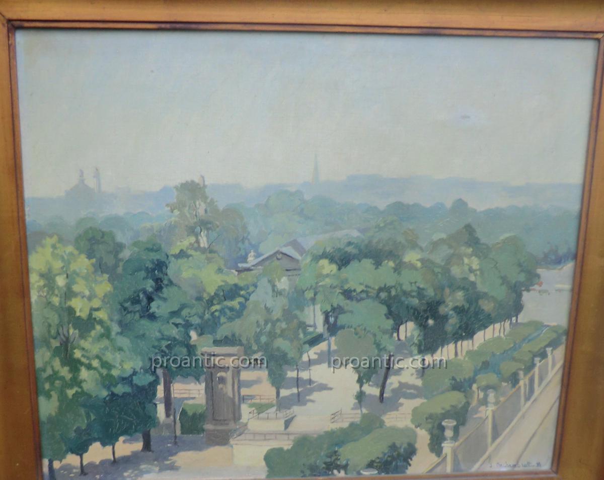 Vue Du Jardin Des Tuileries Depuis l'Hôtel Intercontinental