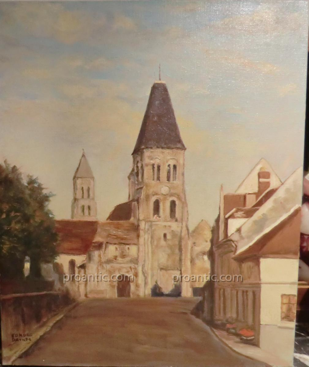 From The Church Morienval Painted By Edmond Daynes