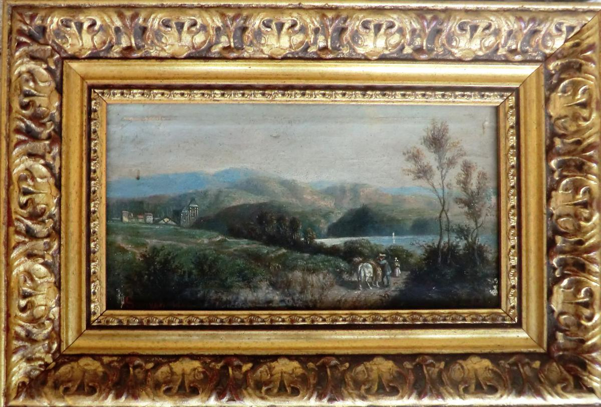 Landscape Painting Signed Wild 1864