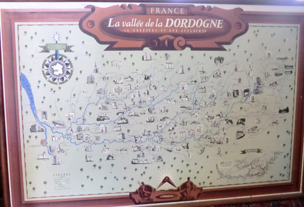 La Vallée De La Dordogne Par Jean Moles 1948