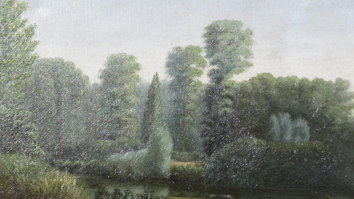 Tableau Paysage Signé Baudin 1885