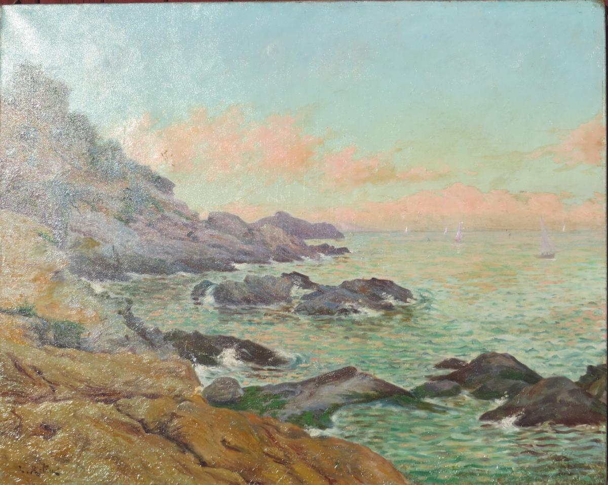 Paysage Corse Signé Louis Antoine Retru(1865/1951)