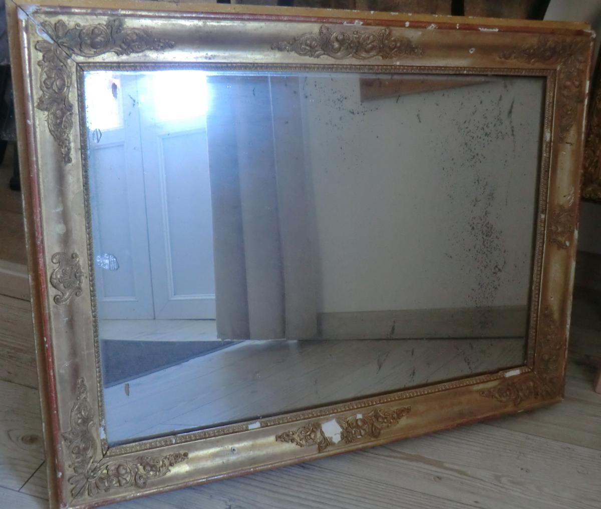 Miroir Epoque Restauration Glace Au Mercure