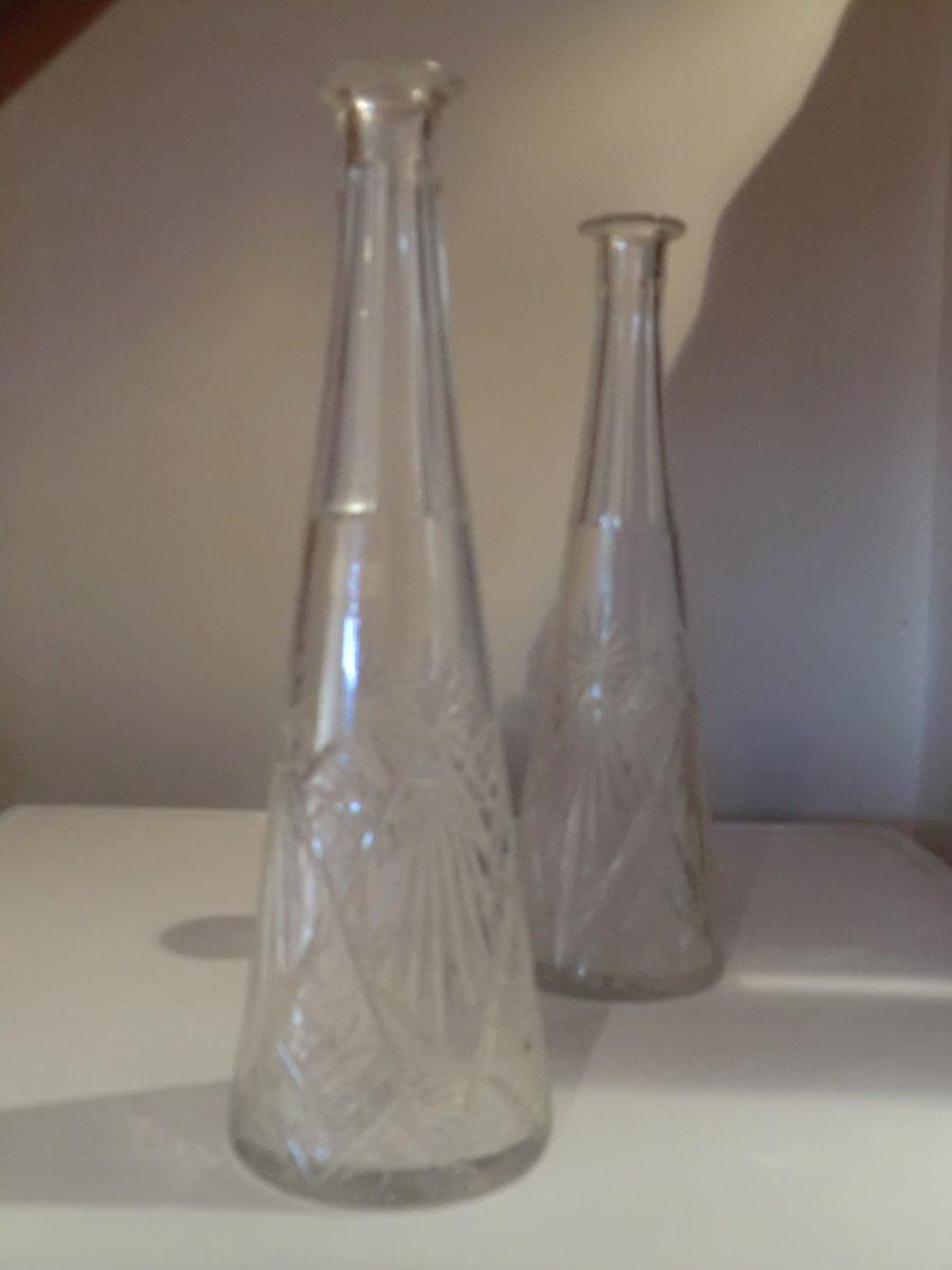 Paire De Carafes En Cristal De Saint Louis-photo-2