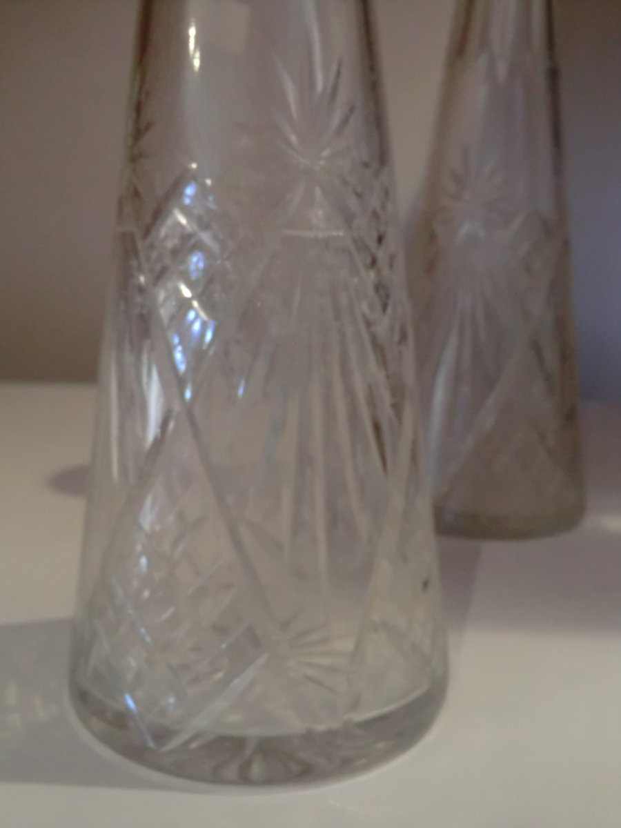 Paire De Carafes En Cristal De Saint Louis-photo-3