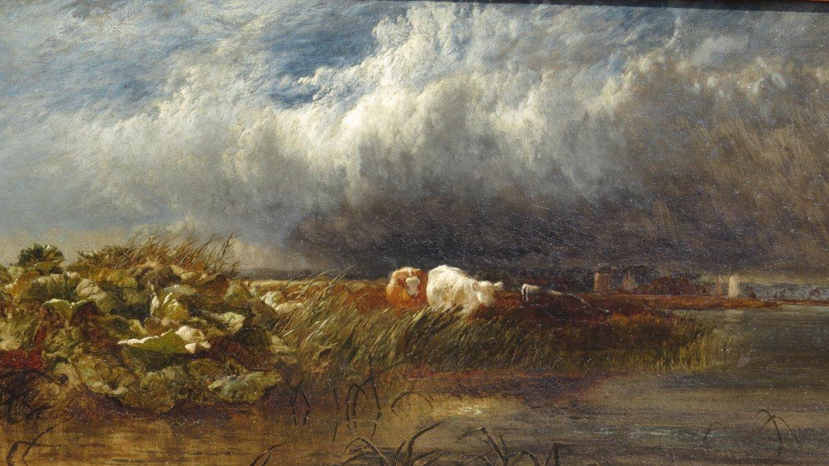 Arthur Gilbert (119/1895) The Thames Near De Chiswick 1852-photo-1